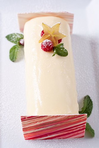 Lemon White Chocolate Raspberry Yule Log