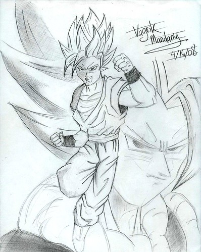 goku super saiyan drawing. Goku+super+saiyan+3+sketch