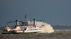 A very windy day in Kingston (Edith Maracle) Tags: ontario water ferry waves wind kingston canonxsi