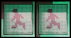 Two Frames of a Countdown Traffic Light