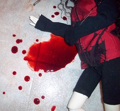 Her heart has stopped (DisorderedCutUp) Tags: alexandria death blood suicide zaoll