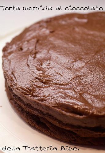 Torta morbida al cioccolato della Trattoria Bibe di Firenze.