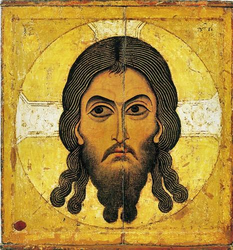 002-Icono Ruso escuela Novgorod año 1100- Cristo Archeiropoietos