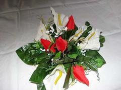 retro cestino all'uncinetto con calle e rose grandi (uncinetto_patrizia) Tags: e di fiori con composizione zucchero cestino alluncinetto inamidato