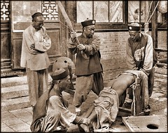 Chinese Punishment, Whipping A Lawbreaker [c1900] Attribution Unk [RESTORED]
