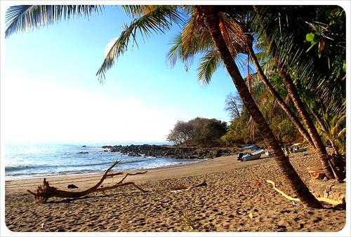 Montezuma beach in the morning