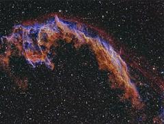 Eastern Veil Nebula - Final (Anna (www.eprisephoto.com)) Tags: space nebula astrophotography astronomy veilnebula ngc6992 narrowband ngc6995 ic1340 annamorris robotictelescope Astrometrydotnet:status=solved easternveilnebula astro:subject=ngc6992 Astrometrydotnet:version=14400 competition:astrophoto=2011 Astrometrydotnet:id=alpha20110504998655 astro:subject=ngc6995