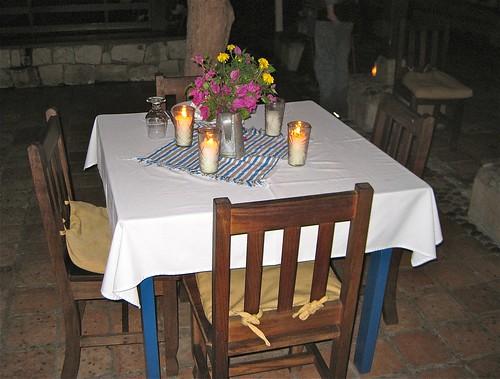 dinning table at the hacienda lodge