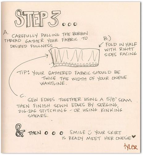 Onesie Dress- step 3