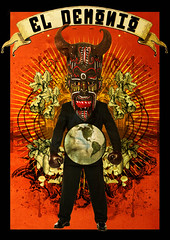 El Demonio // Laprisamata // prisa mata // prisamata (laprisamata) Tags: madrid art collage illustration paper poster design spain arte graphic god surrealism toledo luis diseo mata ilustracion cartel grafico prisa mestizaje laprisamata prisamata