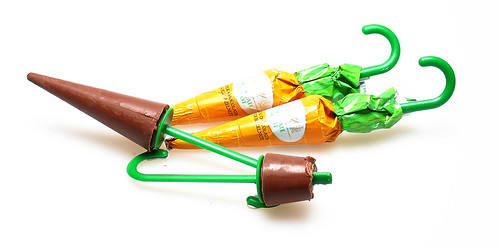 Lindt Chocolate Carrots (or are they umbrellas?)