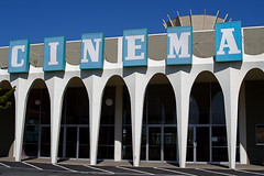 Cinema - For Lease (David Gallagher) Tags: cinema modern movie theater burlingame forlease