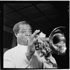 Louis Armstrong, 1947  | Giants of Jazz Series (Black History Album) Tags: newyorkcity jazz carnegiehall africanamerican blackhistory louisarmstrong