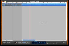 The audio clip is successfully imported into Garageband