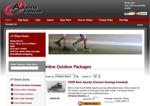 Adams Inline New Website