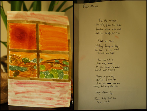mama's day present/painting/card/poem