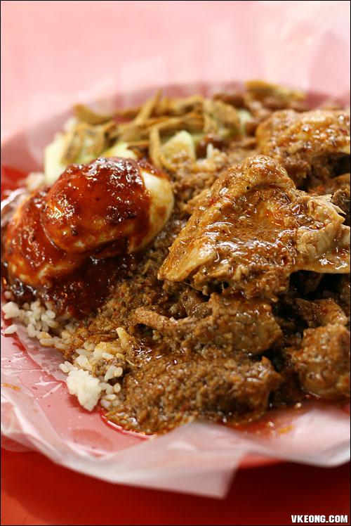 nasi lemak beef rendang