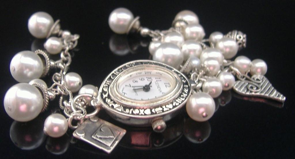 Pearl Hydrangea Watch Bracelet