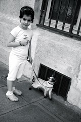 girl walks cat (Beana Bern) Tags: city travel paris france europe places 2008 travelogue beautifulplace
