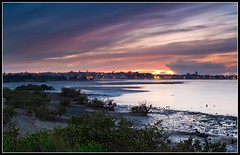 Painted Sky (Chris Gin) Tags: newzealand nature water clouds sunrise dawn reserve auckland nz mangroves ndfilter torea gndfilter tahuna neutraldensity graduatedfilter