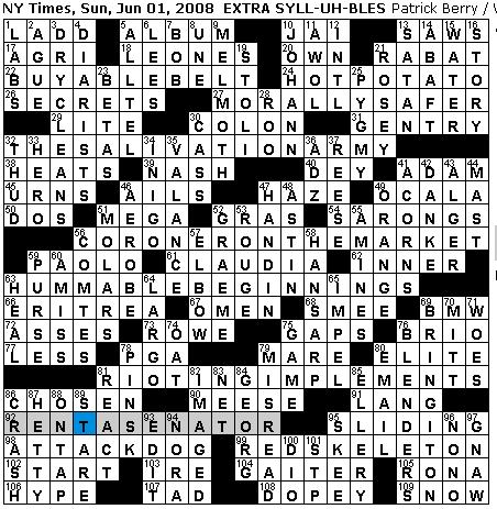 Rex Parker Does The Nyt Crossword Puzzle Sunday Jun 1 2008 Patrick Berry World Capital Formerly A Pirate Stronghold In our website you will find the solution for dadaist jean crossword clue crossword clue. rex parker blogger