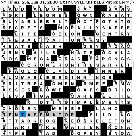formatting academic papers crossword puzzle