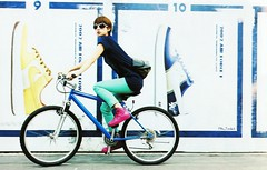 Miho Tanaka (g2slp) Tags: sunglasses bicycle japan nike sneaker japanesegirl  tanakamiho