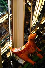 No 55 - Friendship Forever 04 (Karen_O'D) Tags: reflection liverpool friendship flag stjohns shoppingcentre super banana lamb publicart foodcourt antiracism esculator merseyside superlambanana capitalofculture liverpool08 superlambananan