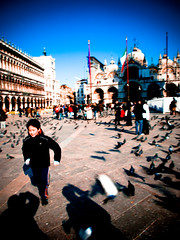 Running in Venice Photo