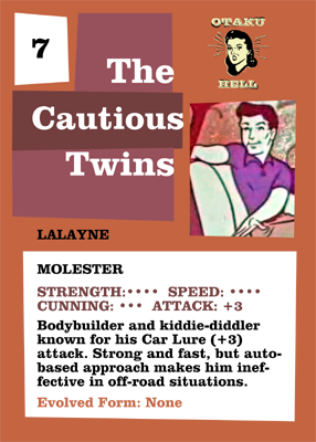 The Cautious Twins Trading Card: LaLayne back