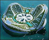 La ciudad flotante Lilypad