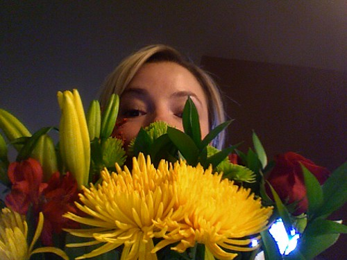 Me and my flowers