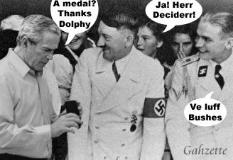 Hitler Medals Bush