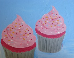 Cupcakes, in acrylic