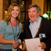 Kat Nelson-Reid congratulates Terry Flanagan on winning iPhone 3G from Obtiva