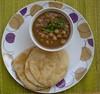 pindi chole and bhatura that didnt quite like itself all puffed up!! (arundatirao) Tags: chole bhatura indianrecipes