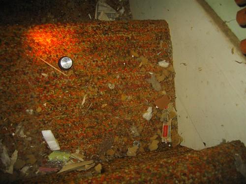 Carpet padding dust balls