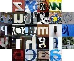 Backwards letters