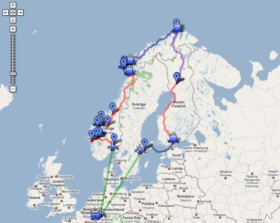 斯堪的纳维亚穷游路线