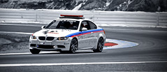 Moto GP Safety Car (j.hietter) Tags: california blue red white 3 colors car turn monterey safety m carmel moto bmw motogp laguna m3 mazda seca coupe gp raceway turn3
