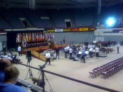 DECC arena inside for Tarjs Halonen's address @ FinnFest