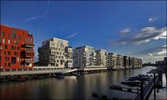 Frankfurt a/M., Westhafen (Kleiobird) Tags: germany geotagged bluehour 53 westhafen duitsland urbandevelopment nieuwbouw frankfurtam sigma1020 geo:lat=50100663 geo:lon=8663095 playingwithgabiswideanglelens