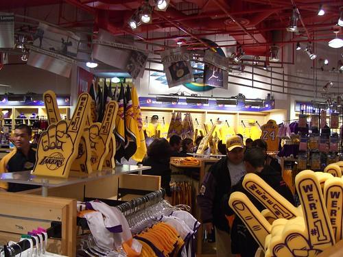 Lakers merchandise.