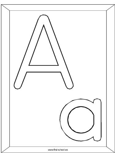 Agridulce » Blog Archive » Dibujos para colorear las letras del Alfabeto