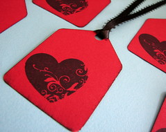 Stamped Heart gift tags (by glamourfae)