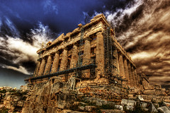 Restoration of the Parthenon (dfworks) Tags: architecture ancient athens parthenon greece hdr 3xp photomatix sigma1020 aplusphoto