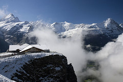 On First (Pavel Vanik) Tags: snow mountains alps nature clouds canon eos schweiz switzerland suisse swiss first chalet grindelwald alpen svizzera alpi 30d 1755is cantonofbern