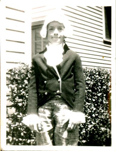 boy as George Washington
