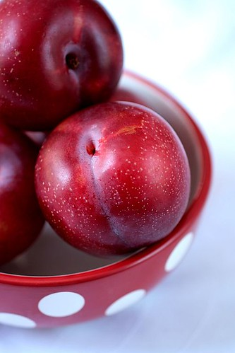 Fresh Red Plums
