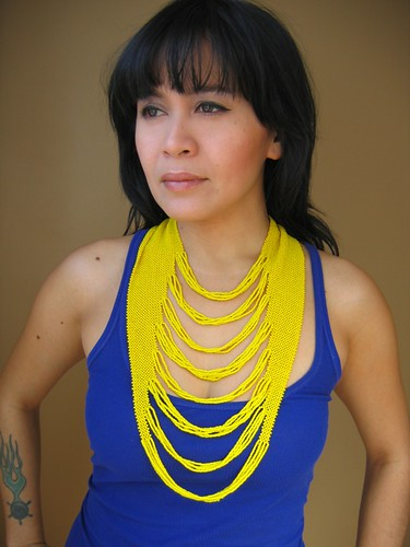 yellow waterfall necklace